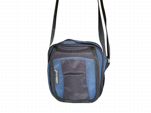 0515к сумка-визитка черная/синяя