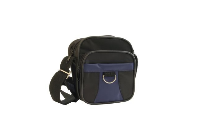 0925к сумка-визитка черная/синяя