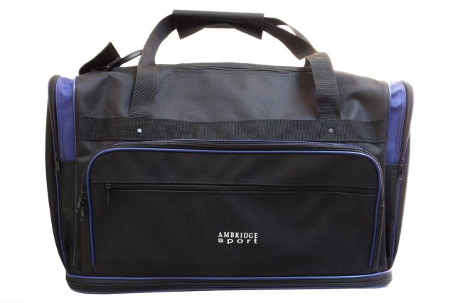 0235мк сумка дорожная черная/синяя