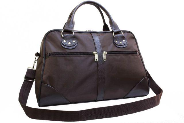 0755к сумка дорожная коричневая