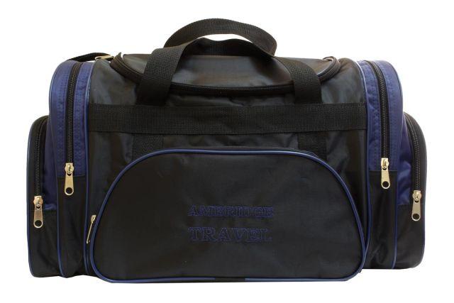 1213к сумка дорожная черная/синяя