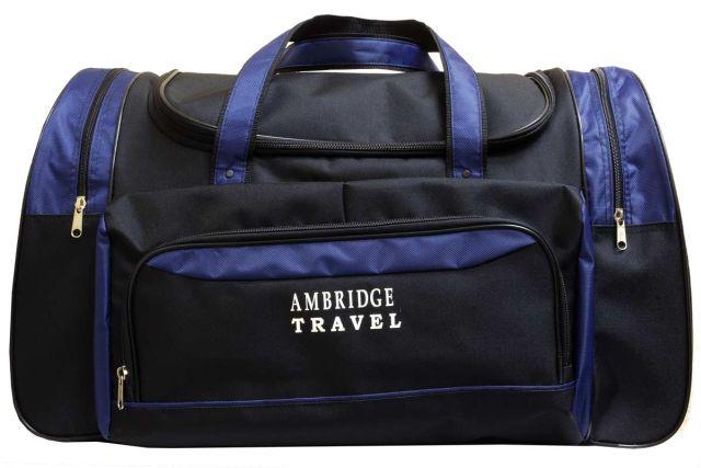 1236к сумка дорожная черная/синяя