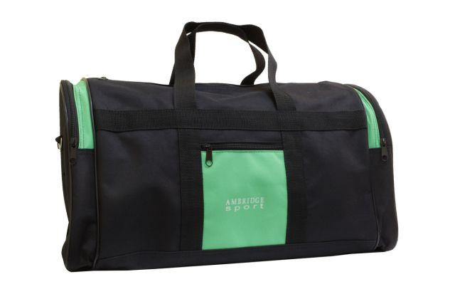 5099к сумка дорожная черно-зеленая