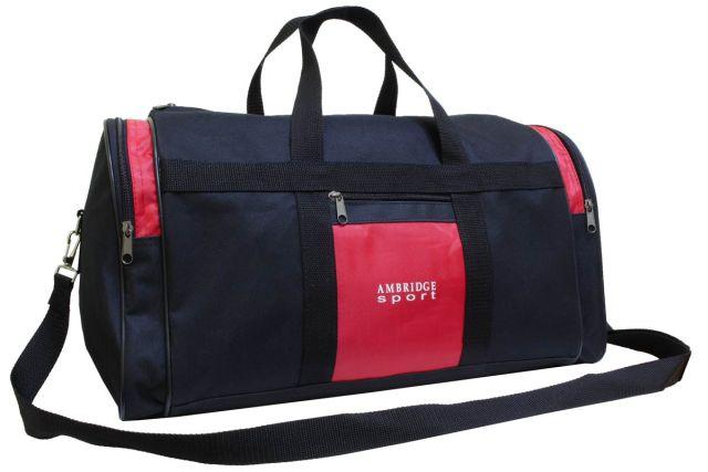 5099к сумка дорожная черно-красная