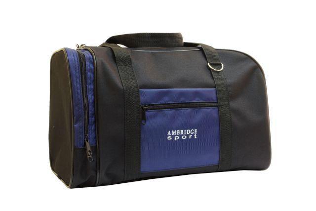 0141к сумка спортивно-дорожная черная/синяя
