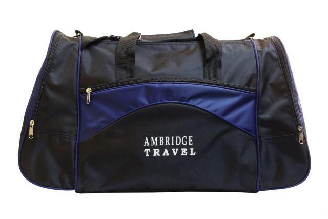 1112к сумка спортивно-дорожная черная/синяя