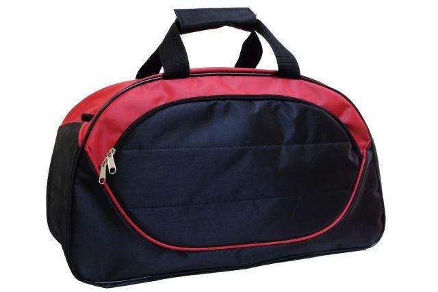 1116к сумка спортивно-дорожная черная/красная