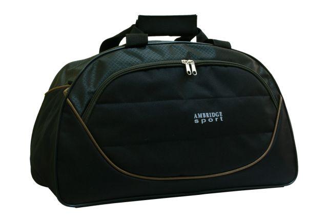 1116к сумка спортивно-дорожная черная/хаки