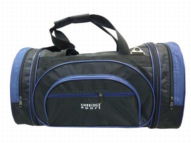 1201к сумка спортивно-дорожная черная/синяя