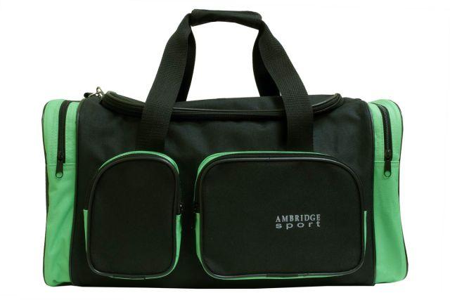 9044к сумка спортивно-дорожная черная/зеленая