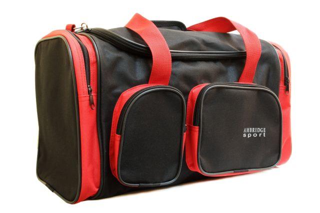 9044к сумка спортивно-дорожная черная/красная
