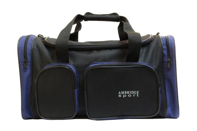 9044к сумка спортивно-дорожная черная/синяя