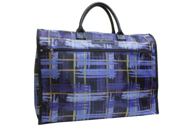 1105к сумка женская клетка синяя