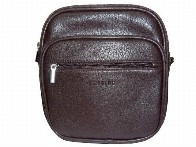 1053 сумка мужская молодежная коричневая