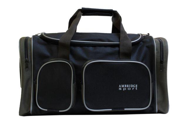 9044к сумка спортивно-дорожная черная/хаки