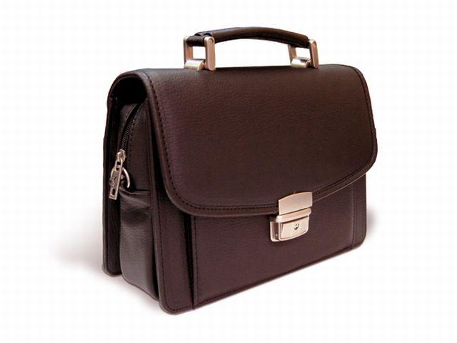 1239 сумка-визитка коричневая