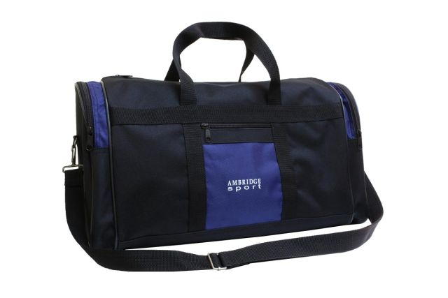 5099к сумка дорожная черно-синяя