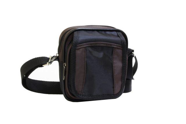 0515к сумка-визитка черная/коричневая