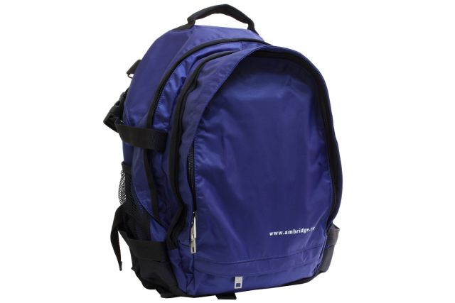 0851к рюкзак синий/черный