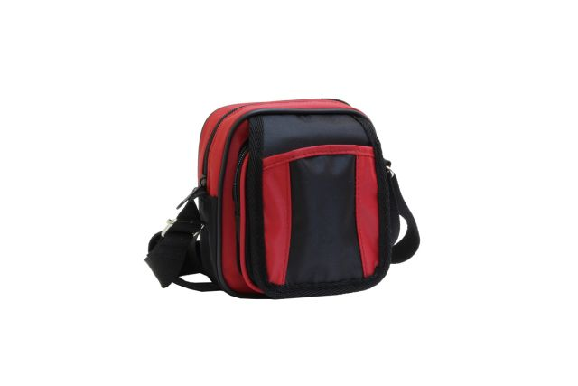 0515к сумка-визитка черная/красная