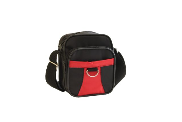 0925к сумка-визитка черная/красная