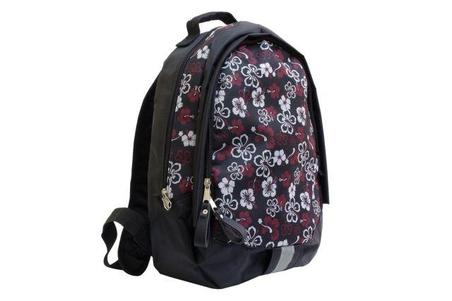 1310к рюкзак черный/цветы дизайн