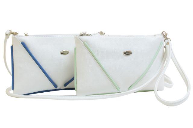 1315 сумка женская белая/отделка