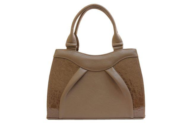 1137 сумка женская темно-бежевая/бежевый лак