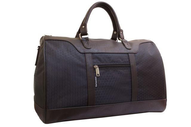 1115к сумка дорожная черная/коричневая