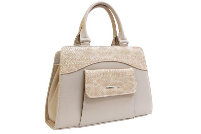 1221 сумка женская бежевая/лак