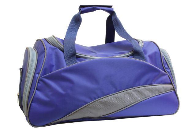 0806к сумка спортивно-дорожная синяя/серая