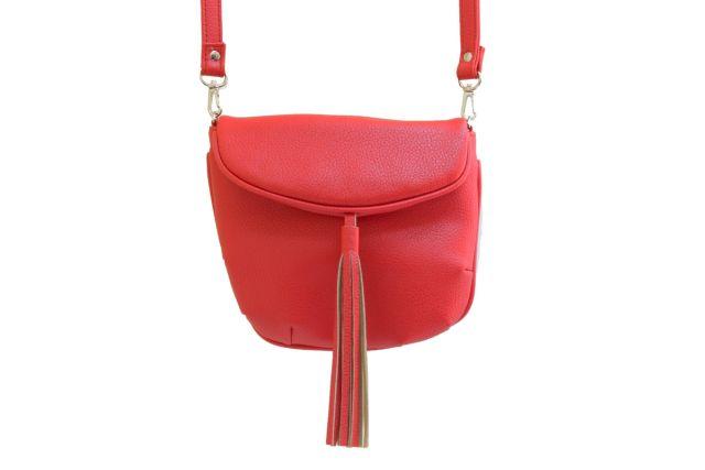 1209 сумка женская красная