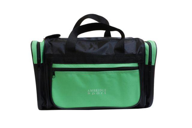 1229к сумка спортивно-дорожная черная/зеленая