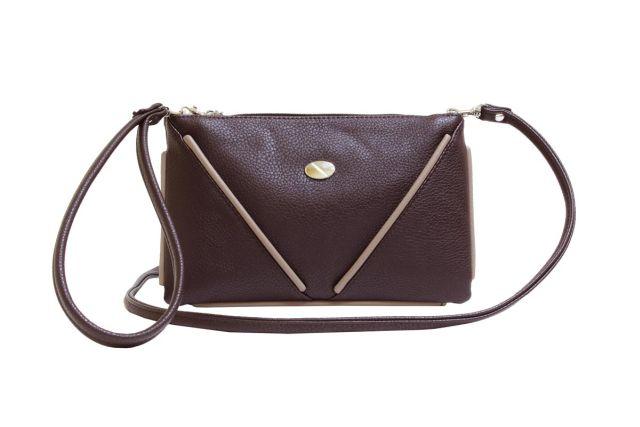 1315 сумка женская коричневая/бежевая