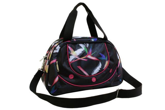 1328к сумка спортивно-дорожная дизайн/черная