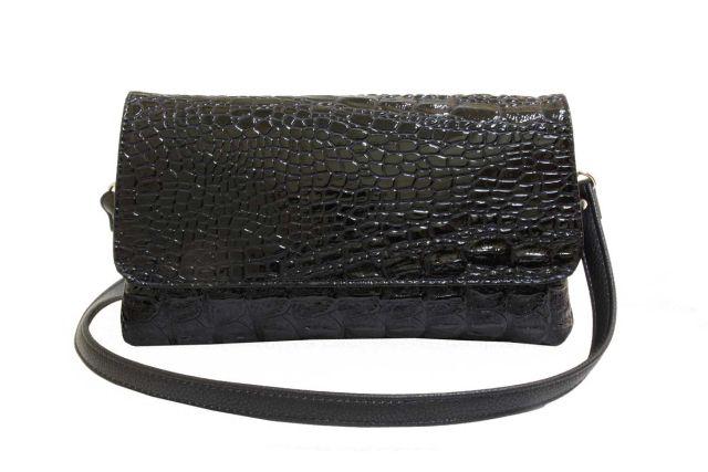 0954 сумка женская черный лак