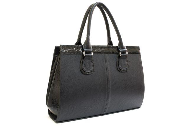 1214 сумка женская черная/черный лак