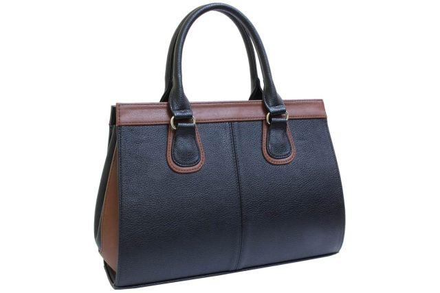 1214 сумка женская черная/рыжая