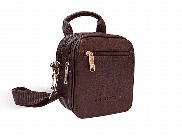 1322 сумка-визитка коричневая