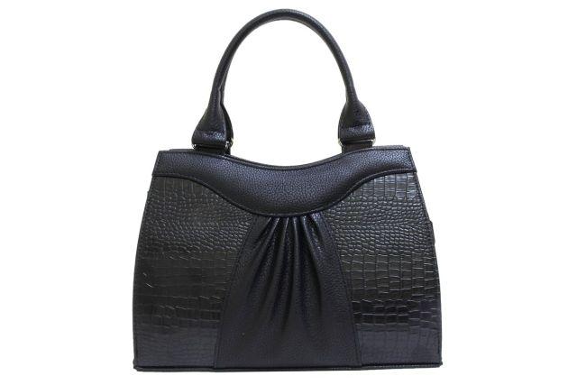 1135 сумка женская черная/черный крок