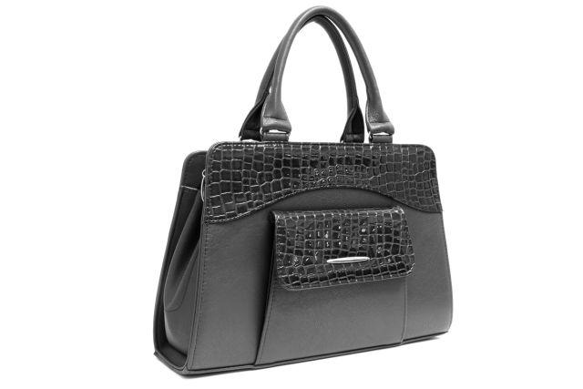 1221 сумка женская черная/лак