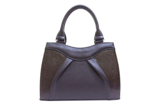 1137 сумка женская коричневая/коричневый лак