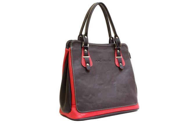 1321 сумка женская коричневая/красная/черная