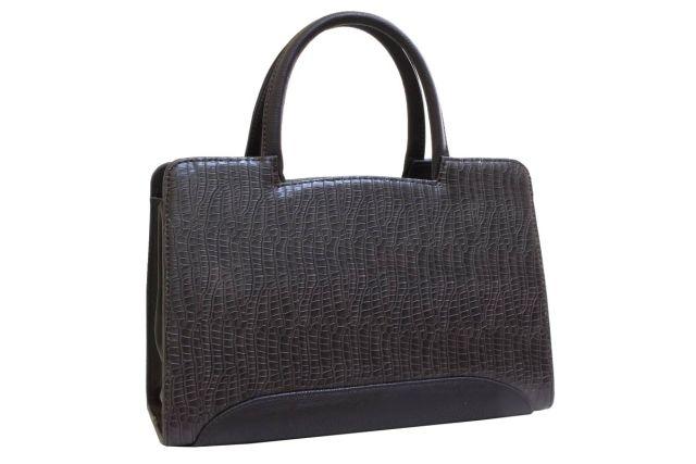 0222 сумка женская коричневая крок