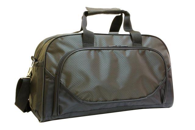 0528к сумка спортивно-дорожная черная/хаки