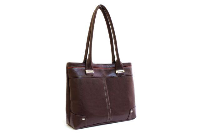 1338 сумка женская коричневая