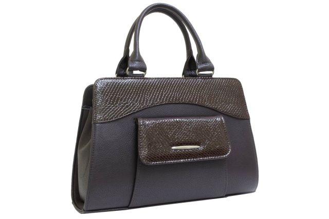 1221 сумка женская коричневая/коричневый лак