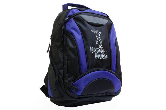 1314к рюкзак черный/синий