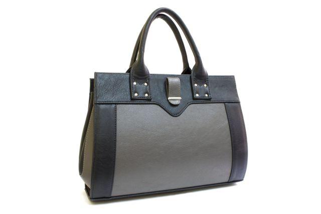 1342 сумка женская черная/серая