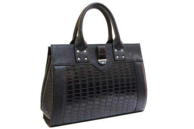 1342 сумка женская черная/черный крок